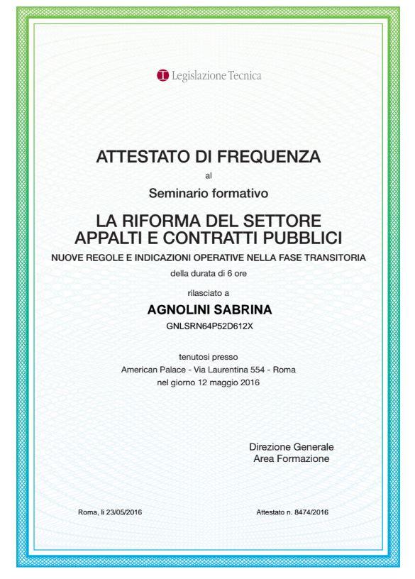 Attestati E Certificazioni Assa Consulenza Appalti