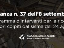 Gli interventi di ricostruzione a seguito del sisma di agosto 2016
