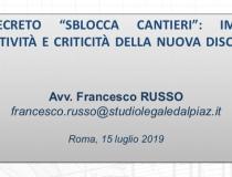 """Il decreto """"Sblocca Cantieri"""""""