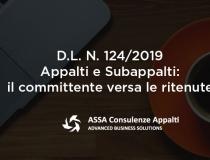 D.L. N. 124/2019 – Appalti e Subappalti