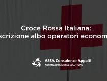 Croce Rossa Italiana: iscrizione albo operatori economici