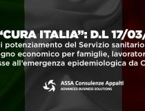 """Decreto """"Cura Italia"""" – D.L 17/03/2020 n.18"""
