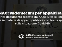 "Anac – Vademecum per ""appalti rapidi"""